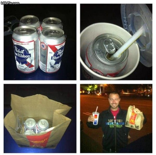 How to sneak in beers
