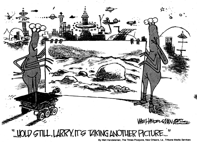 How the Mars-photos really were shot