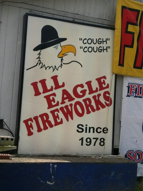 How to properly advertise illegal fireworks