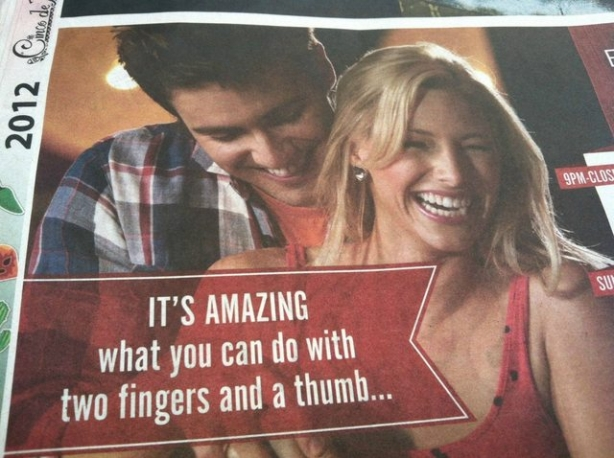 I don't think they meant it like that. Bowling ad
