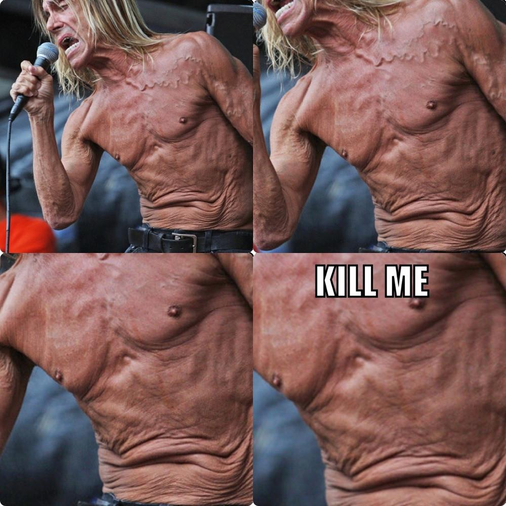 Iggy Pop's torso