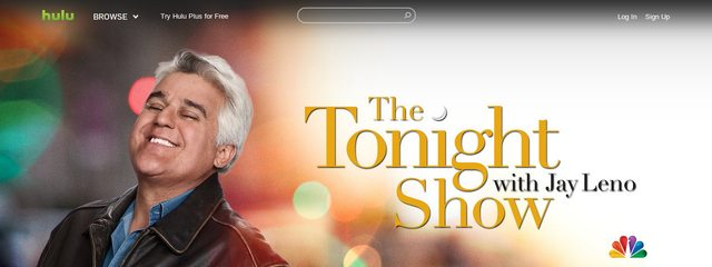 Is it just me, or does the Tonight Show logo on Hulu look like a Christmas album cover?