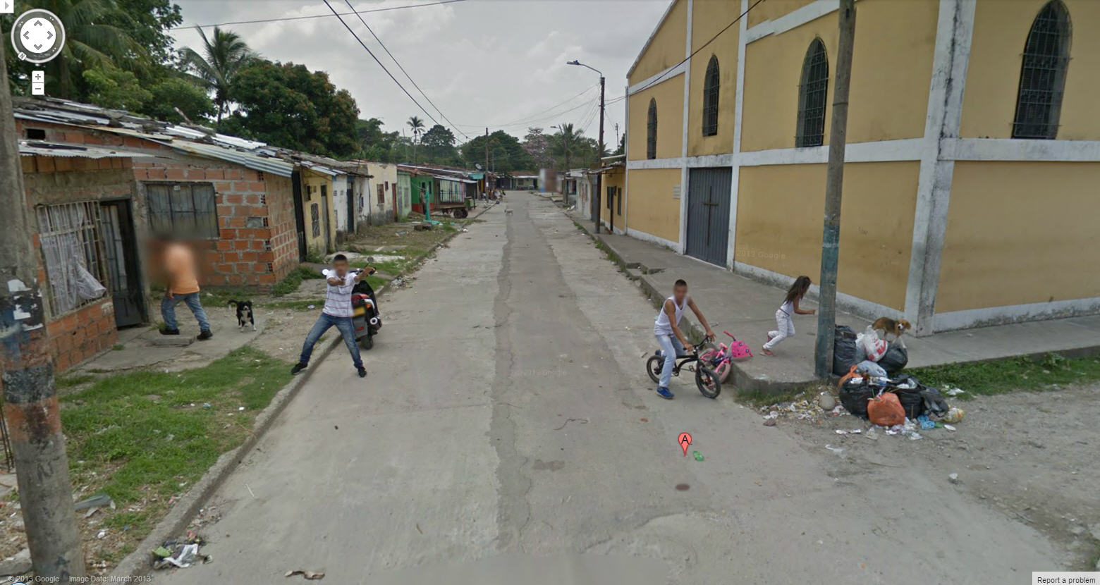 People Shooting At The Google Street View Car In Colombia