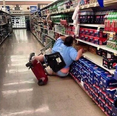 Clean up in aisle three. Clean up in aisle three