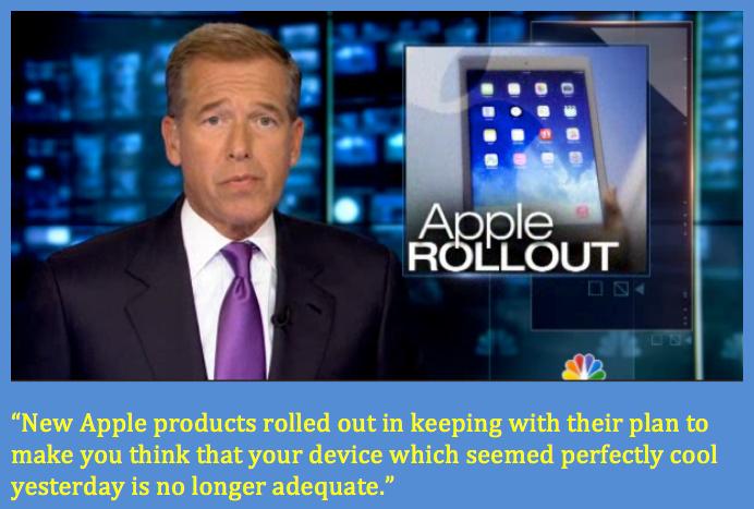 Brian Williams understands Apple.