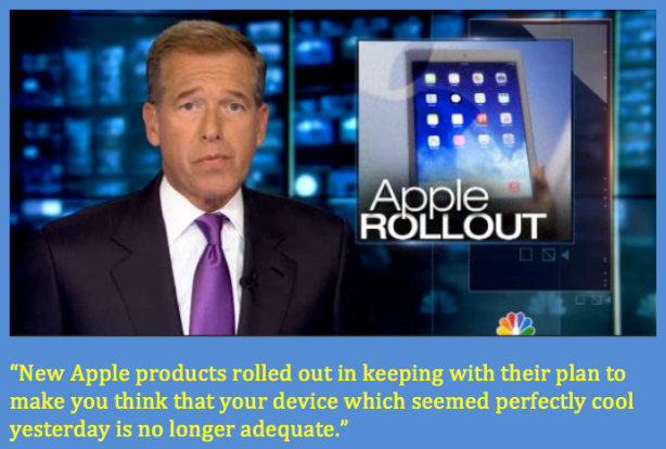 Brian Williams understands Apple.