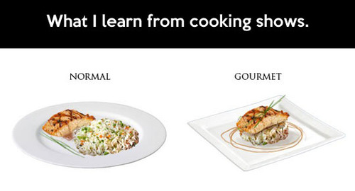 What I learn from cooking show