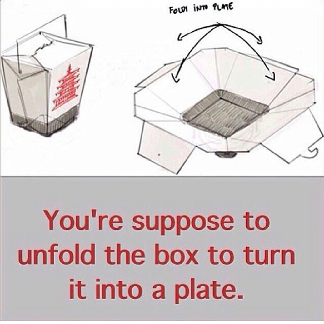 Never knew this about Chinese food boxes...