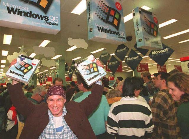 Remember the launch of Windows 95? Not so long ago...