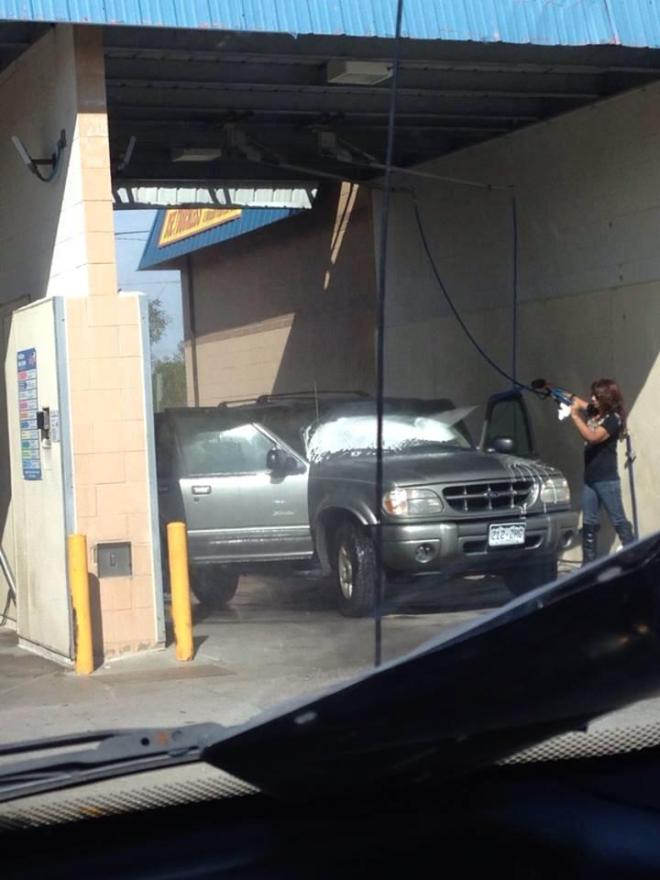 So I saw someone washing their SUV today