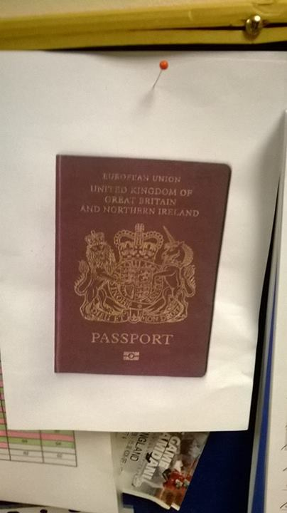 They said - bring in a photocopy of your passport...