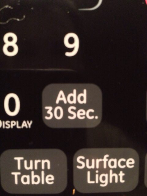 The only button that gets used on my microwave.