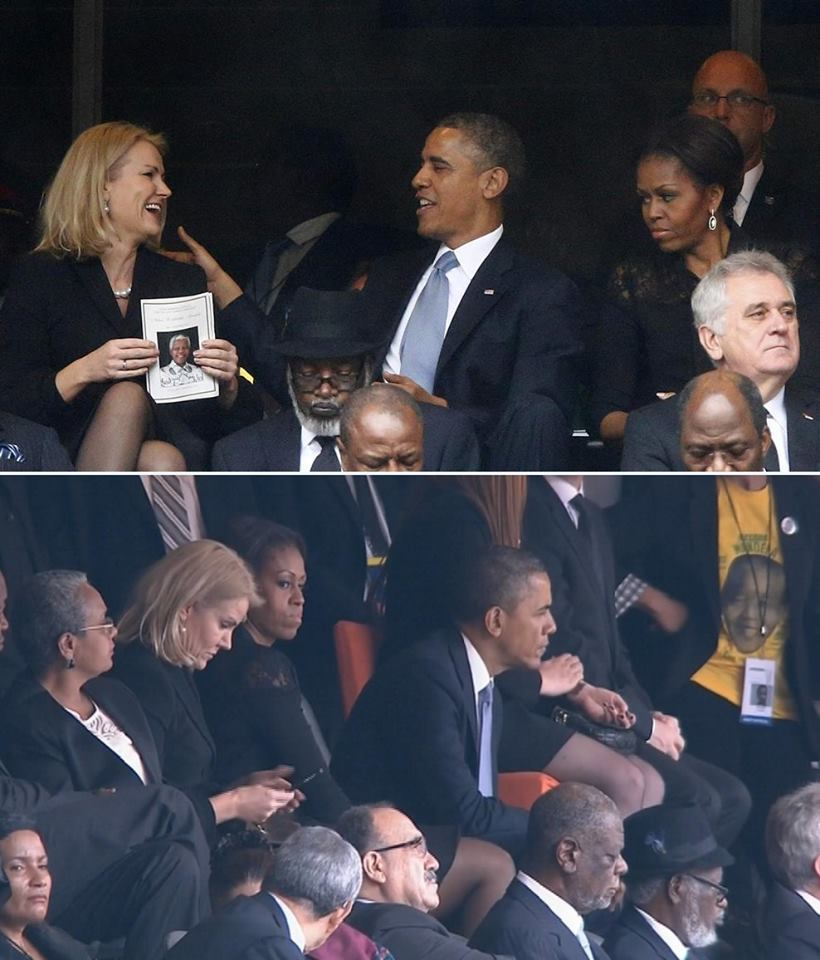 Barack Obama with Danish prime minister Helle Thorning-Schmidt