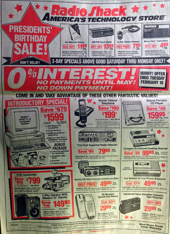 Everything on this Radioshack ad from 1991, you can now do with your phone