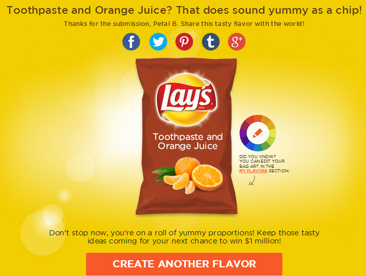 Here's my own flavor for the Lays make your own flavor contest