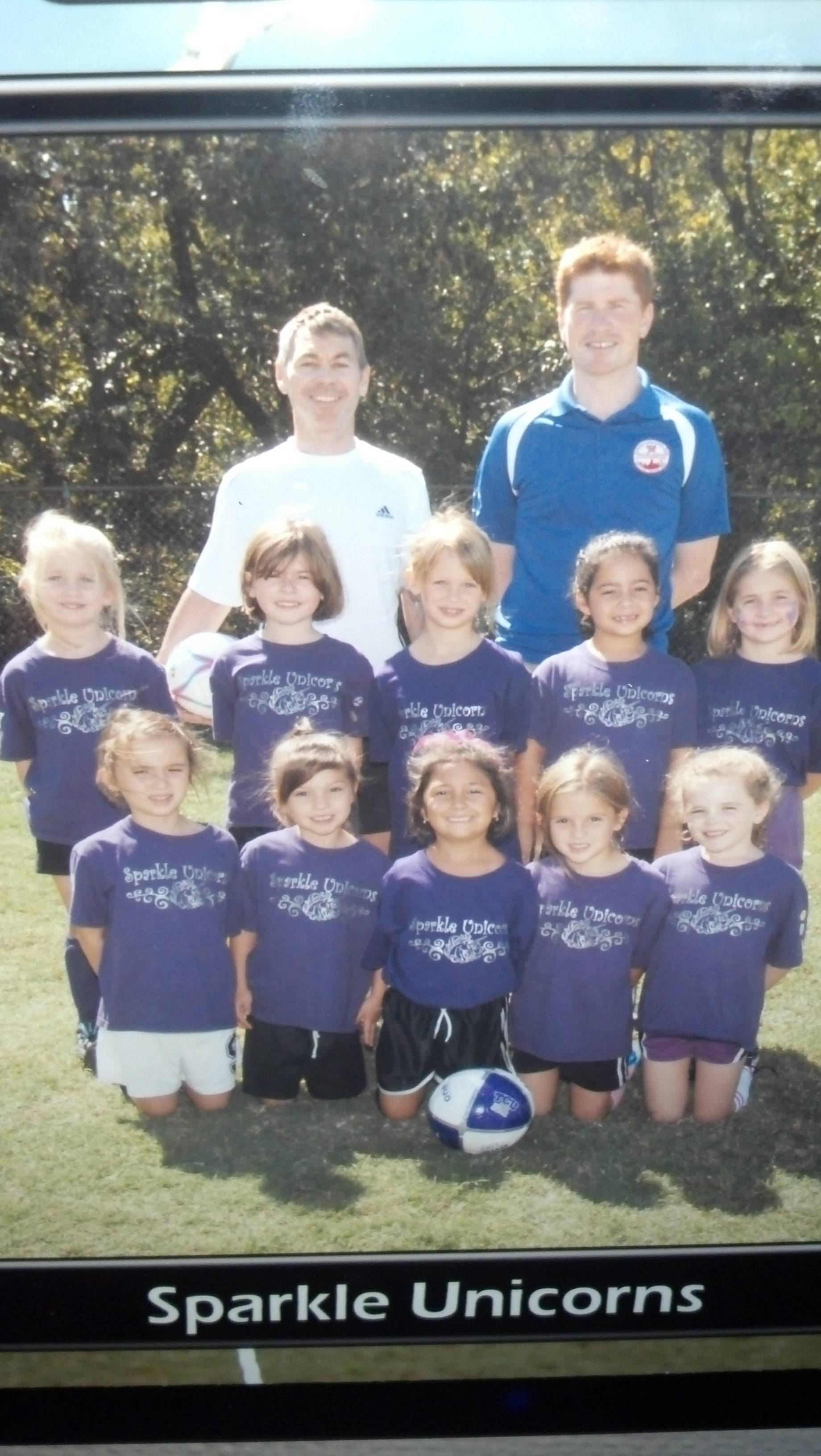 This is what happens when you let the girls choose the name of their soccer team