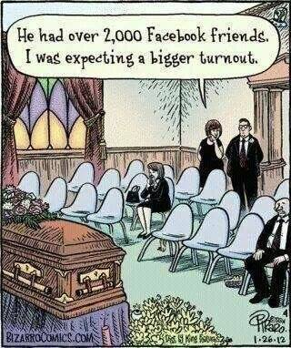 What I expect funerals in the near future to be like