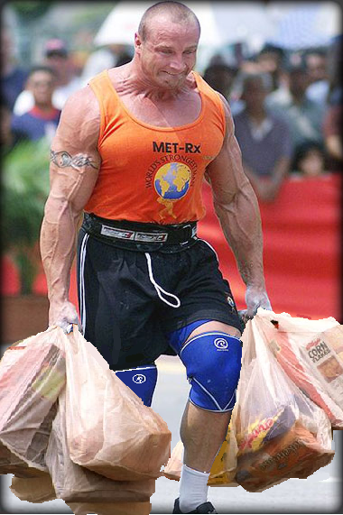 Carrying in groceries... always all in one trip