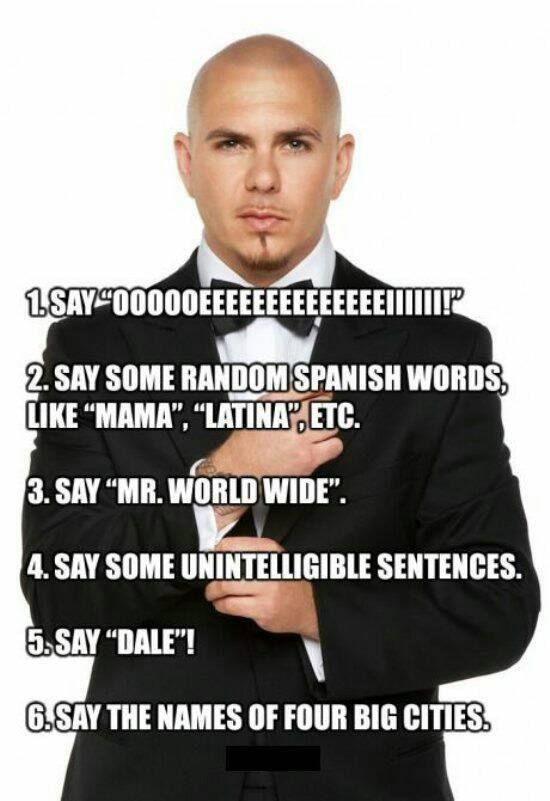 How to write a Pitbull song