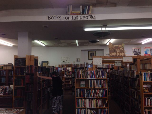 My local book store has a section for tall people