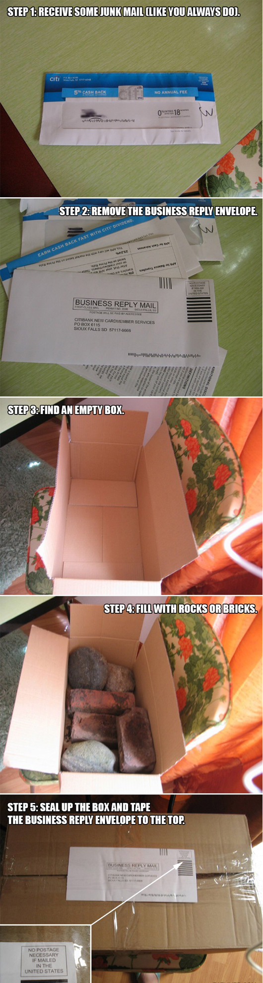 How To Deal With Junk Mail. Must try