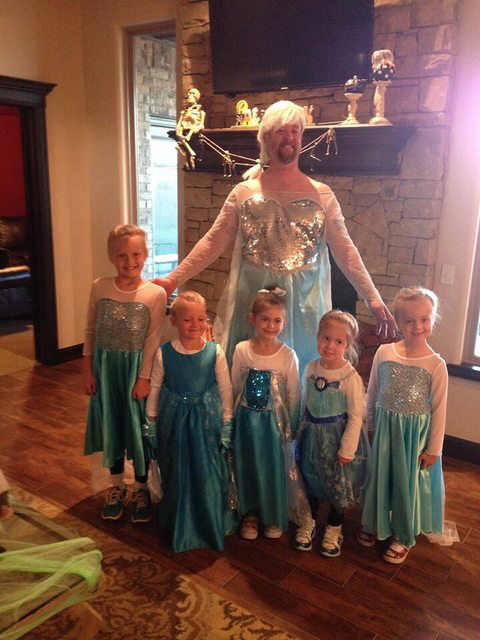 My friend has a lot of daughters. Dad level 9000 for Halloween this year