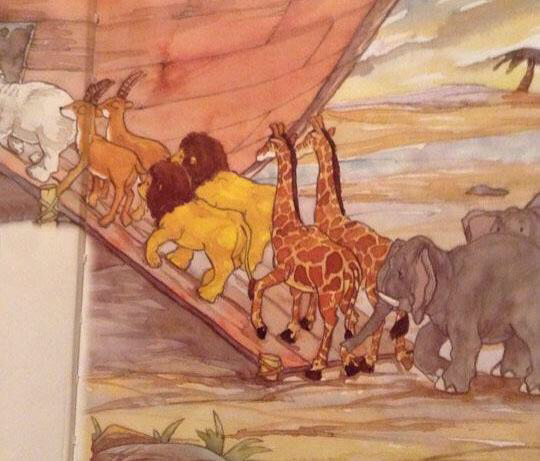 I think Noah is going to have a little trouble breeding the lions