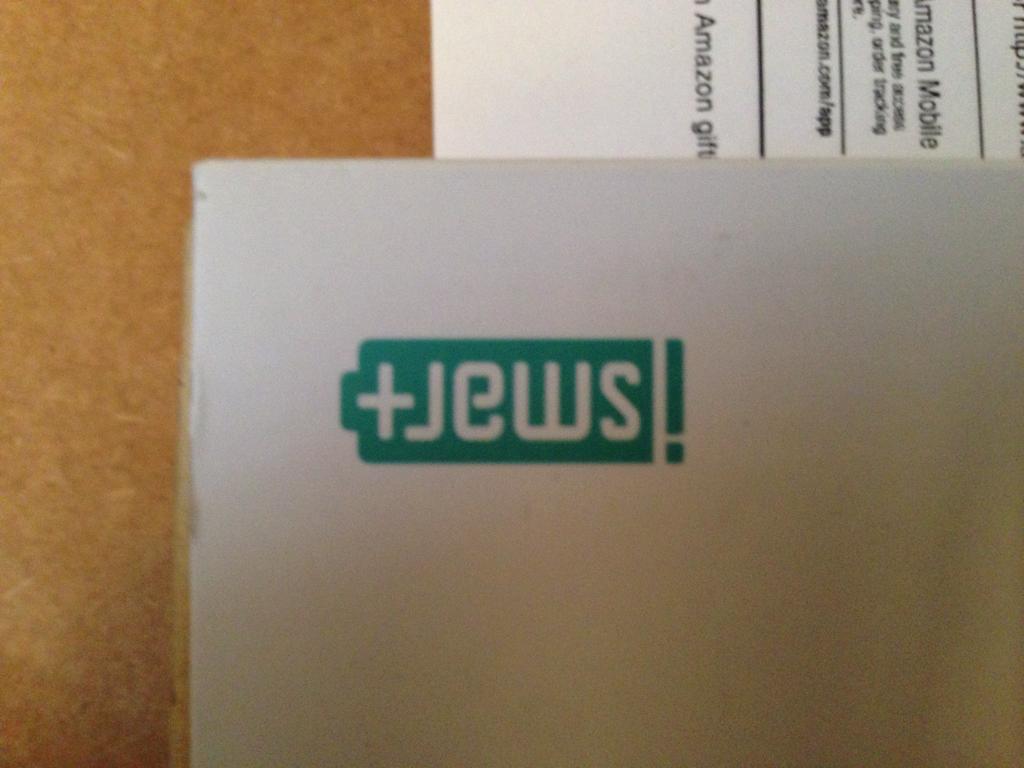 When reading iSmart's logo upside down..